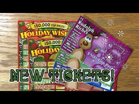 New Tickets! Reindeer Riches + Holiday Wishes TEXAS LOTTERY Scratch Off Tickets