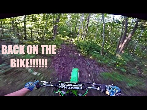 KX 125 Trail Riding, Jumps & Pit Bike Update-Kx 125 Moto Vlog #40