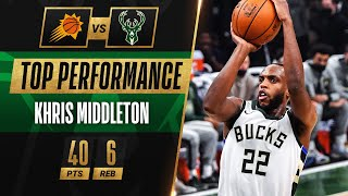 Khris Middleton CLUTCH PLAYOFF CAREER-HIGH 40 PTS! ♨