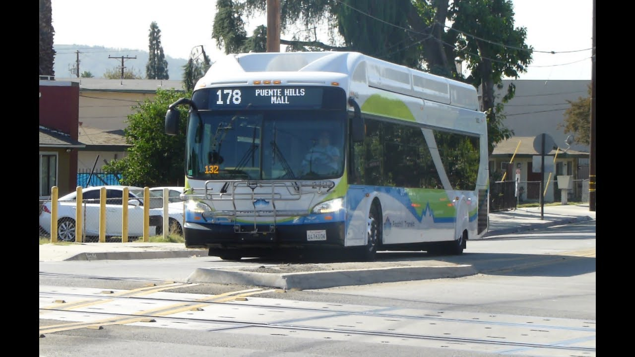 Foothill Transit Ca 2016 New Flyer Xn40 Xcelsior Route