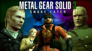 Metal Gear Solid 3 (MGS3) Movie HD 60fps PS3 All Cutscenes with Secrets