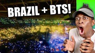 The Power of Brazilian ARMY Fanchant Reaction | BTS Speak Yourself Tour in Brazil
