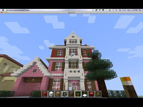 minecraftสอนสร้างบ้านสไตล์USAพิเศษวันchristmas
