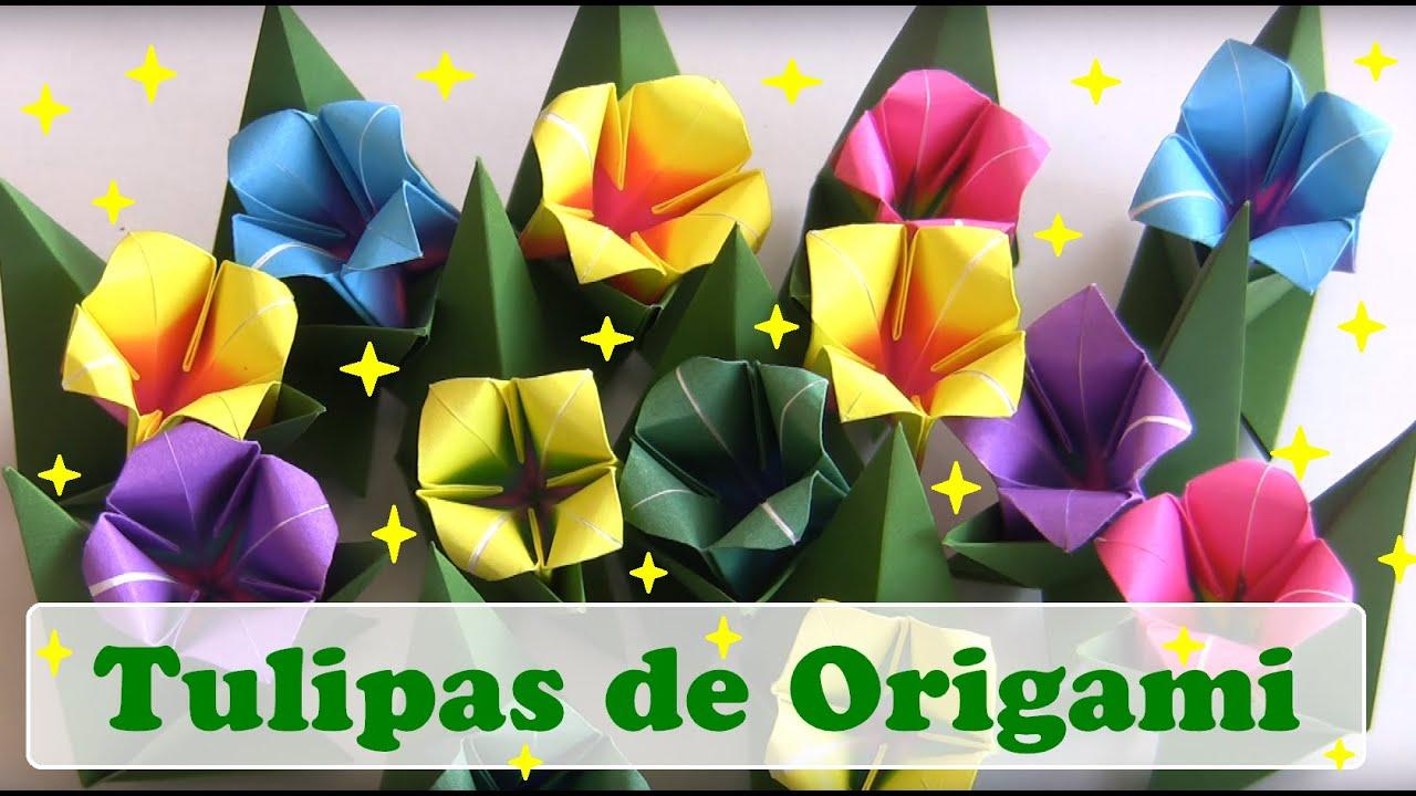 flores de origami tulipa