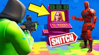 SNITCH The HIDER In The ARCADE MACHINE! (Fortnite Snitch Hide And Seek)