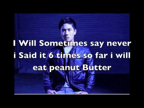 Never Say Never-Rustin Hieber(Nigahiga)Lyrics on Screen