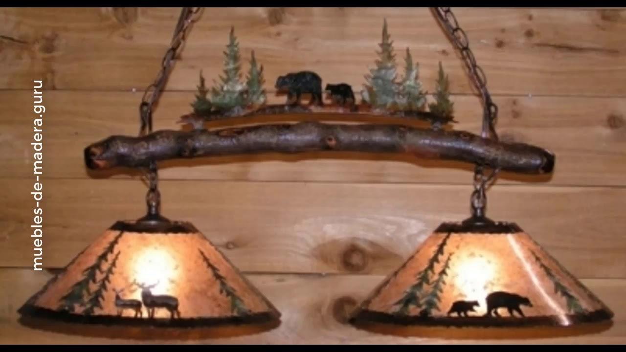30 Ideas De Lámparas Modernas En Madera Rústica