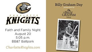 Join Will Graham for 'Billy Graham Day' at BB&T Ballpark