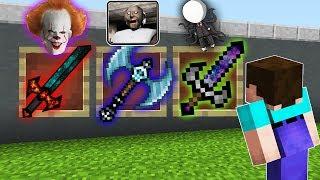КАКОЙ СТРАШНЫЙ МЕЧ БОГА ВЫБЕРЕТ НУБ В МАЙНКРАФТ Бабушка Гренни, ОНО и Слендер троллинг в Minecraft