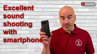 Great sound shooting with smartphone and SmartMike+