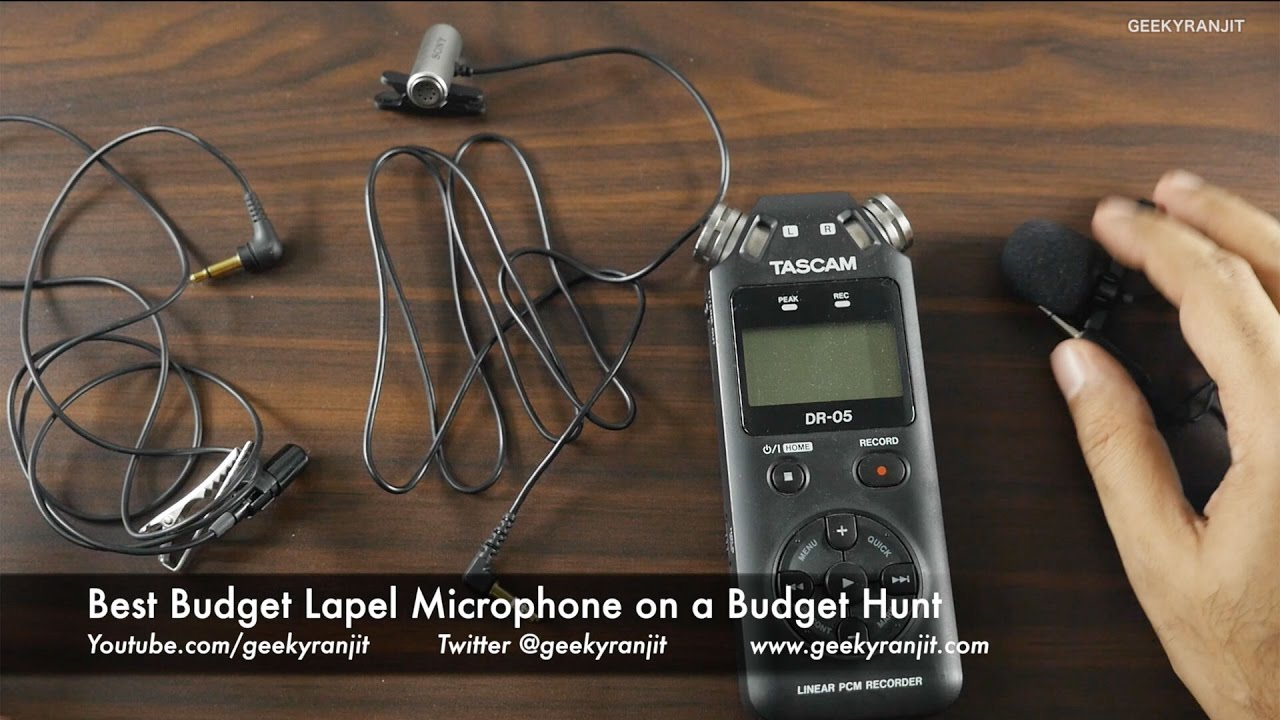 best lapel microphone on a budget sub 25 sony vs olympus vs ahuja youtube. Black Bedroom Furniture Sets. Home Design Ideas