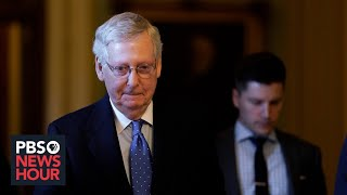 WATCH LIVE: Sen. Mitch McConnell holds press briefing on virus relief act