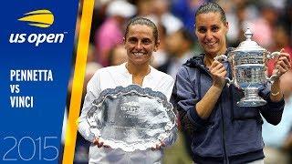 Flavia Pennetta vs. Roberta Vinci   2015 US Open Final   Full Match