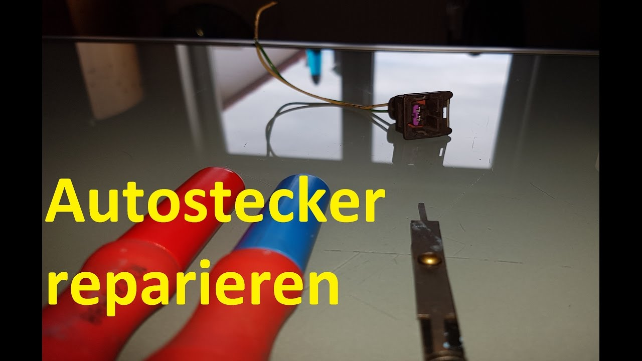 Stecker am Auto reparieren, richtig crimpen. - YouTube
