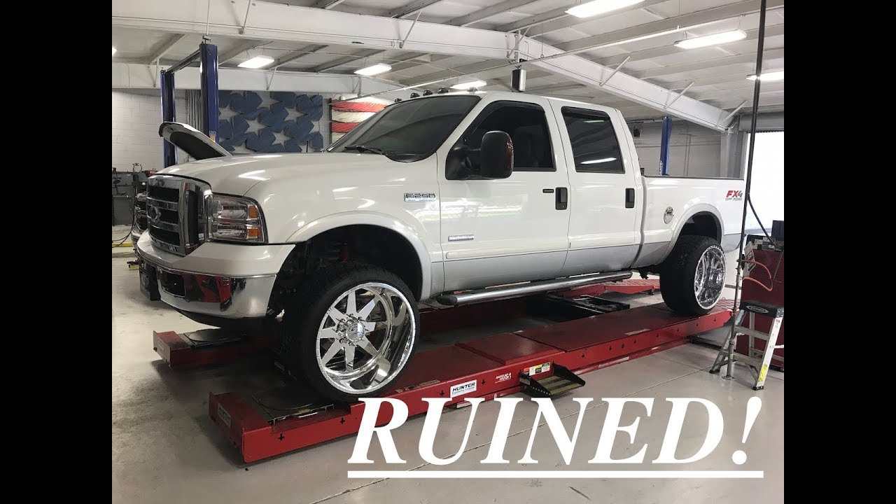 2006 6.0 F250 leveled on american force 24x14 independence ...