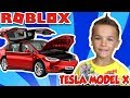 MY NEW ELECTRIC CAR TESLA MODEL X in ROBLOX VEHICLE SIMULATOR | DRAG RACES | CAR STUNTS