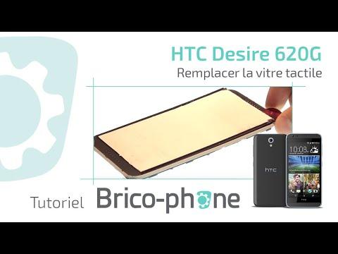 Tutoriel HTC Desire 620G : remplacer la vitre tactile HD