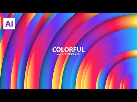 Colorful Wallpaer Design In Adobe Illustrator thumbnail