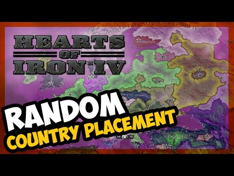SCRAMBLED WORLD! | HOI IV - AI ONLY - Random Country Placement Mod - E.1
