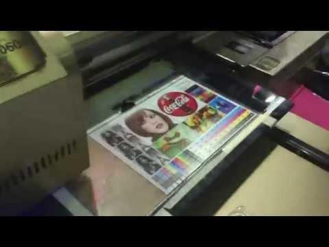 Печать на прозрачном оргстекле УФ-принтер SpringSun UV 4060