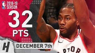 Kawhi Leonard Full Highlights Raptors vs Nets 2018.12.07 - 32 Pts, 4 Ast, 4 Steals!