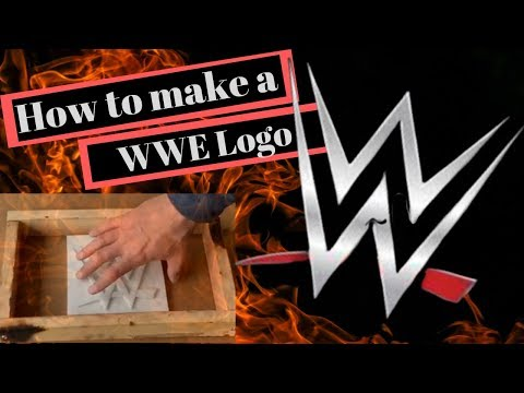 How to make a WWE logo from melted aluminum cans (trash to treasure)