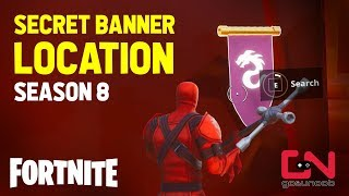 Fortnite - Secret Banner (Hidden Battle Star) Location - Season 8 - Week 2