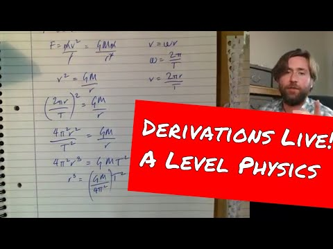 Derivations And Half Term Revision - GorillaPhysics - GCSE And A Level Physics Revision Live Stream
