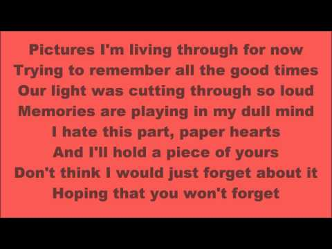 Tori kelly paper hearts lyrics