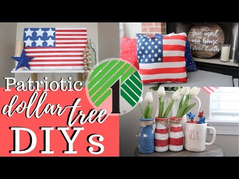 Patriotic Dollar Tree DIYS | Memorial Day & 4th Of July! 🇺🇸🇺🇸🇺🇸