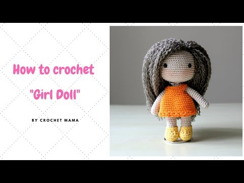 Crochet Amigurumi Girl Doll Pattern and Tutorial