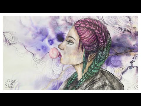 how to paint a girl with double dutch braid ioana cotuna youtube