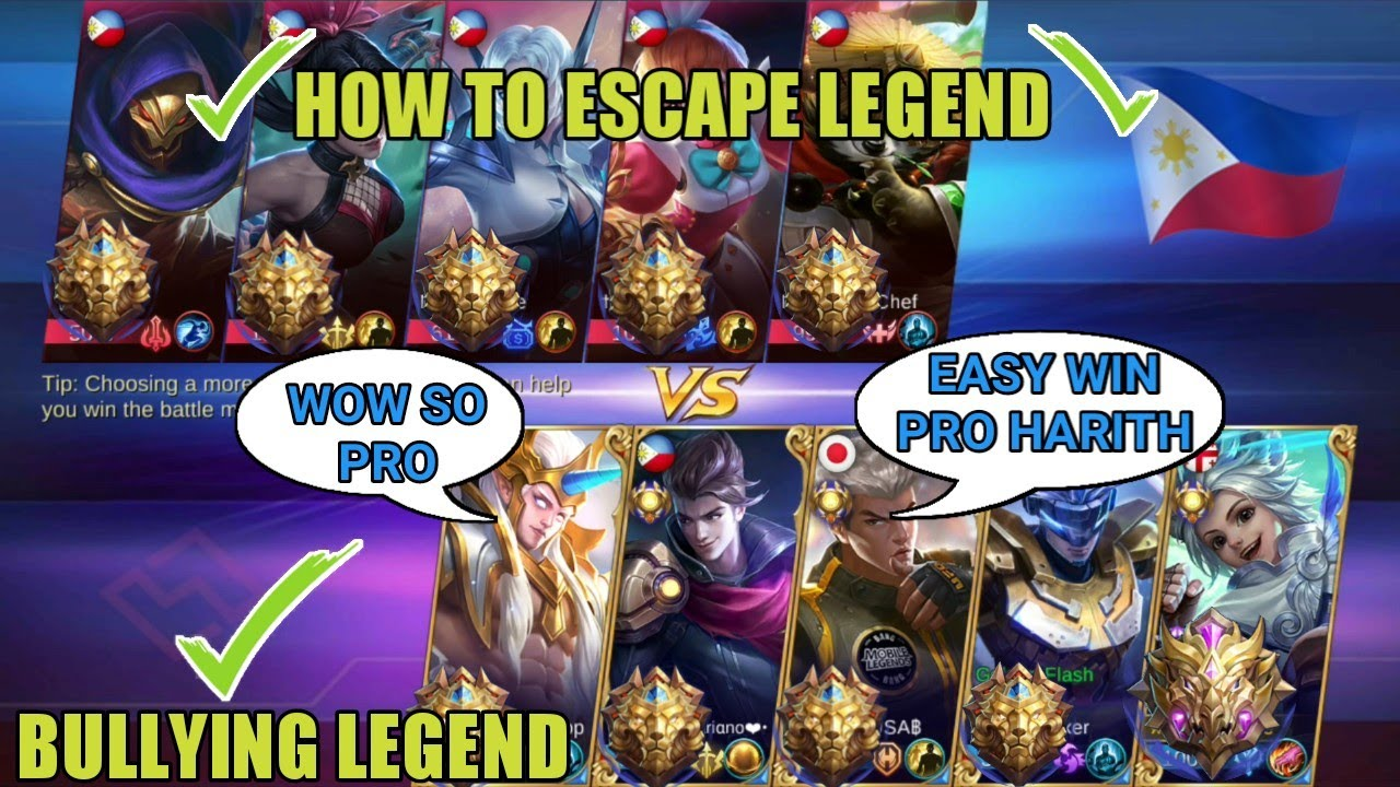 BULLYING LEGENDS | HOW TO ESCAPE LEGEND | MOBILE LEGENDS