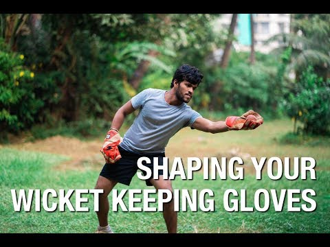 How To SHAPE Your Wicket Keeping GLOVES   Mumbai Cricketer   Hindi