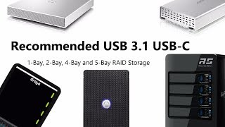 Recommended USB-C RAID enabled DAS Cases - 2-Bay, 4-Bay and 5-Bay