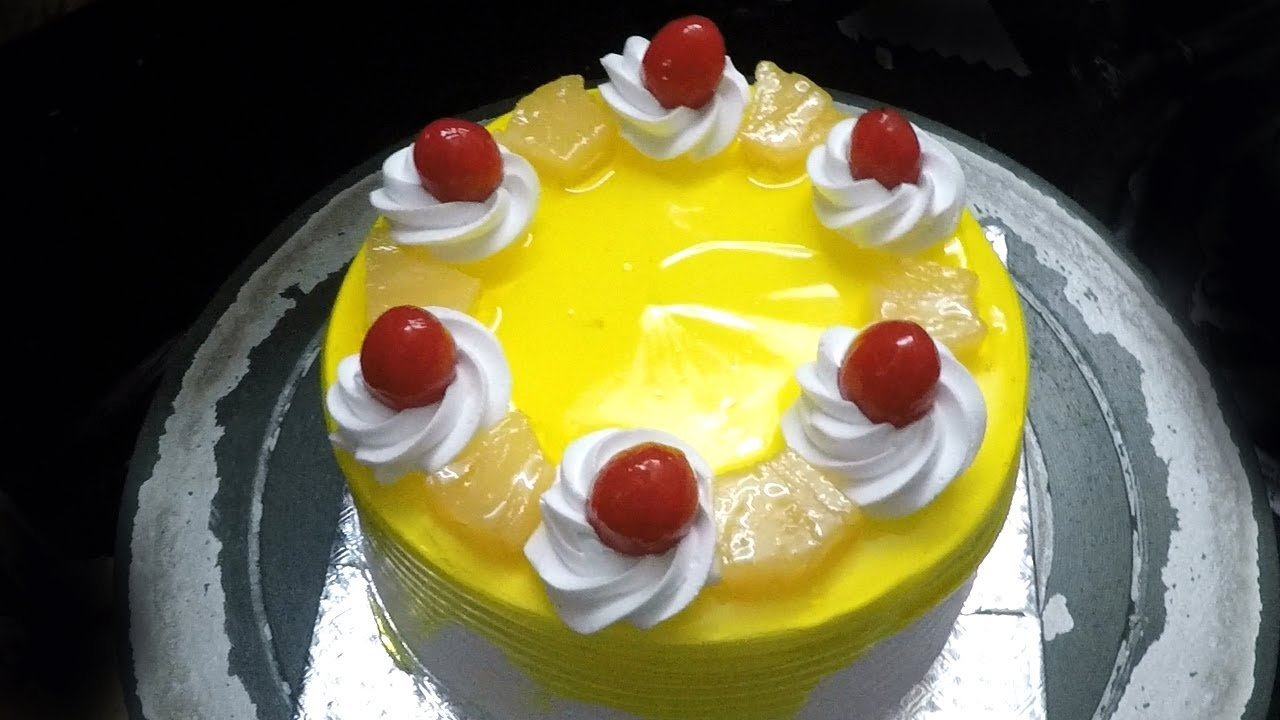 Pineapple Cake Recipe Pineapple Pastry Cake Pineapple Cake Decoration Youtube