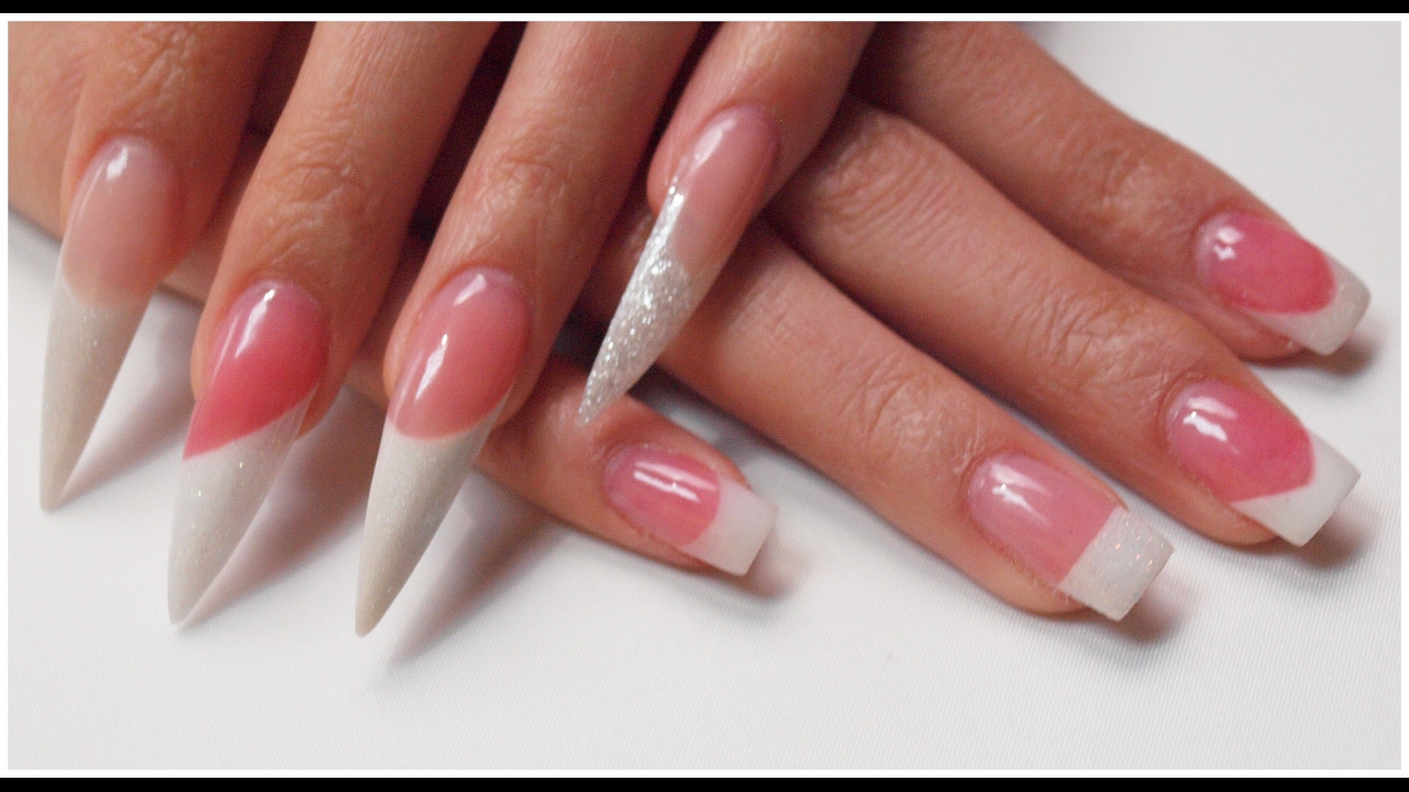 SLANT FRENCH TRIMMER Using Nail Form - TODAY\'S PRODUCTS - YouTube