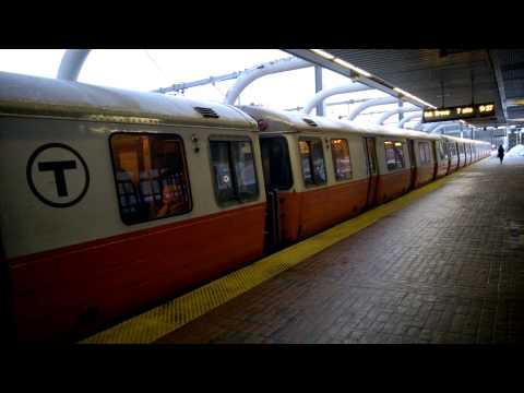 Sparkling MBTA Orange Line train at Mass Ave Station
