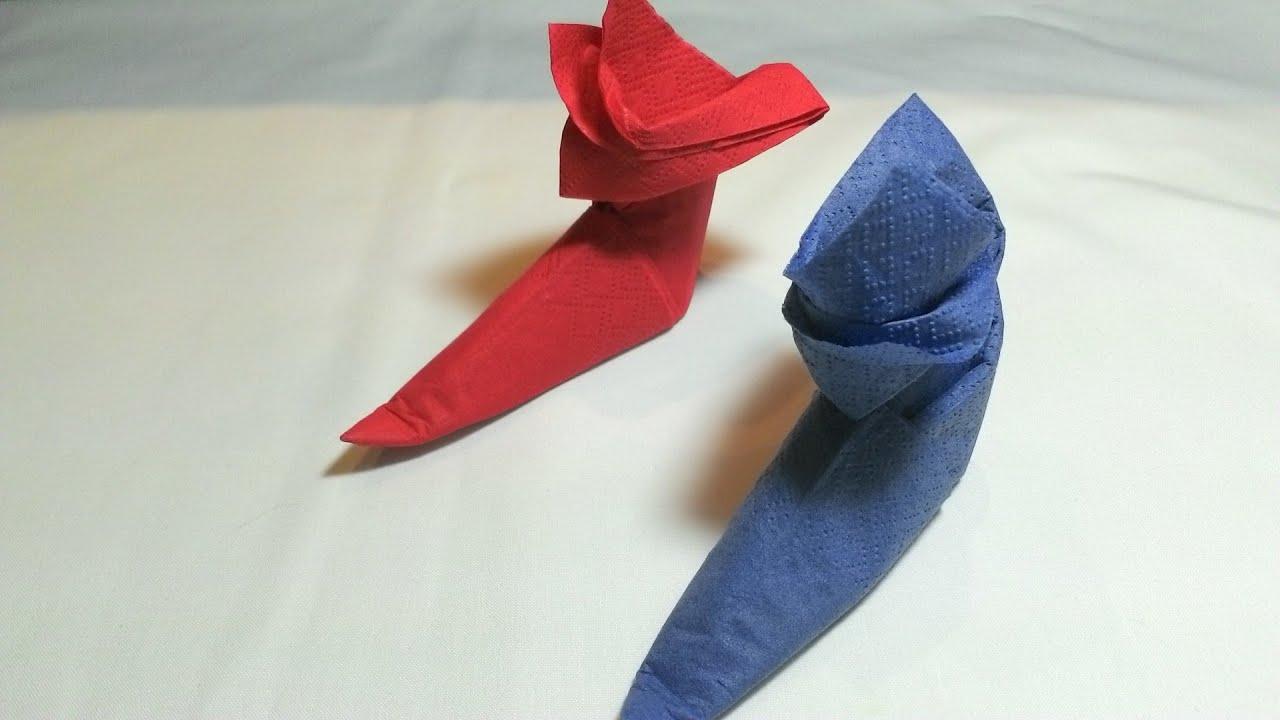 Como doblar una servilleta para navidad una bota de santa - Doblar servilletas para navidad ...