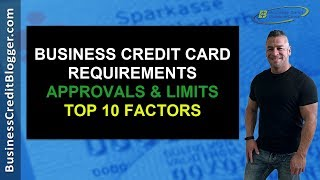 Business Credit Card Requirements - Business Credit 2019