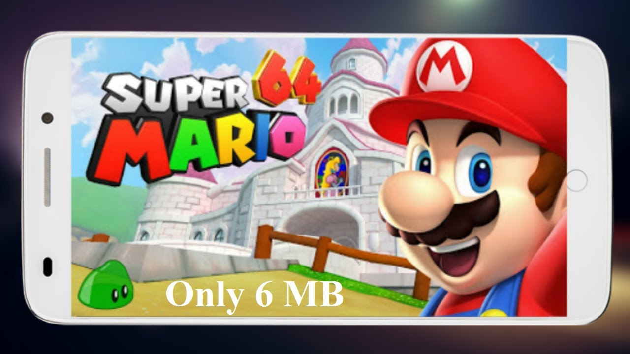 Only 6 MB Download & Install Super Mario 64 HD 3D Graphics Game Any Android  Hindi