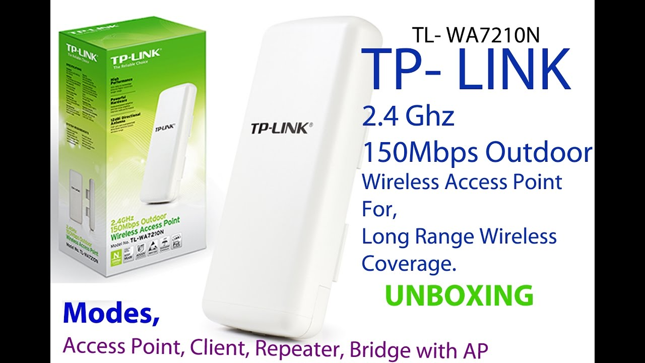 Tp Link Tl Wa7210n 2 4 Ghz 150mbps Outdoor Wireless Access Point Youtube