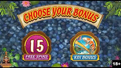 Lucky Koi Slot Machine Free Spins Bonus - Microgaming Slots