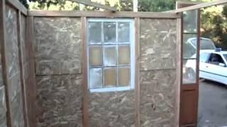 Construcción casa con materiales reciclados, parapente maitencillo