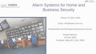 Alarm Systems for Home and Business Security - BAMSS Brisbane