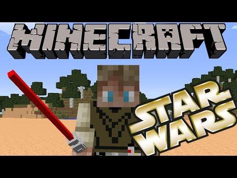 Minecraft Mods | Star Wars Mod | The Force Awakens! Lightsabers, Wookies, Jedis Mod Showcase Review