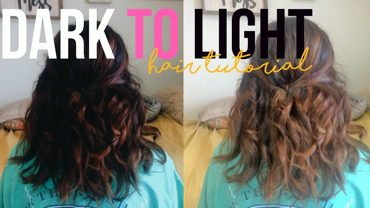 Black to Light Brown Hair Without Bleach