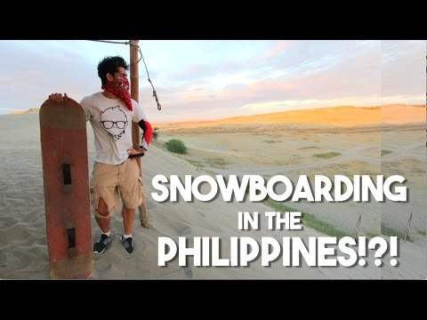 Snowboarding in the Philippines!?! (Ilocos Sand Dunes Adventure)
