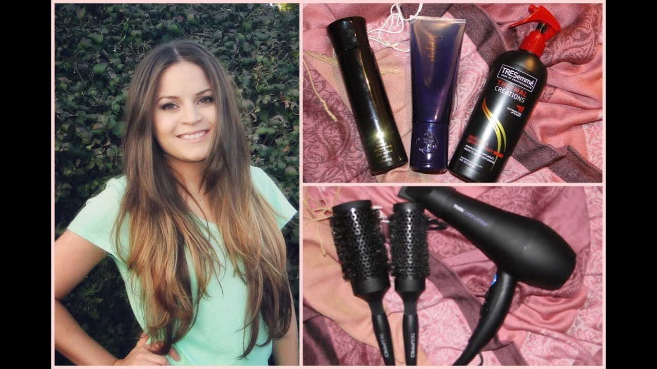 Tutorial How To Blow Dry Curly Frizzy Hair Youtube