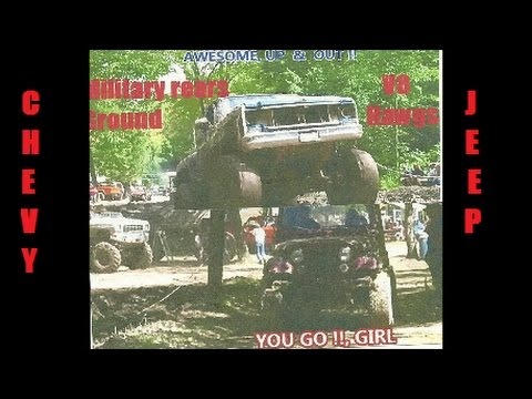 JEFFREYS MUD BOG/ THE BLUE CHEVY  HAWGS & DK RED JEEP